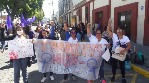 Tamaulipecas se suman a la marcha nacional contra feminicidios