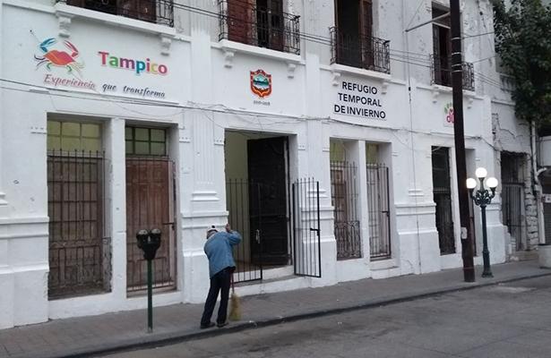 Continúan las labores del refugio temporal de Tampico