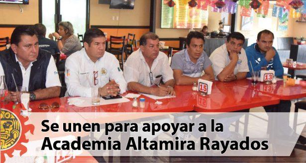 Familia deportista se une para apoyar a la Academia Altamira Rayados