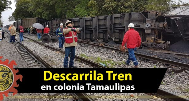 Rotura de riel generó descarrilamiento en la Tamaulipas
