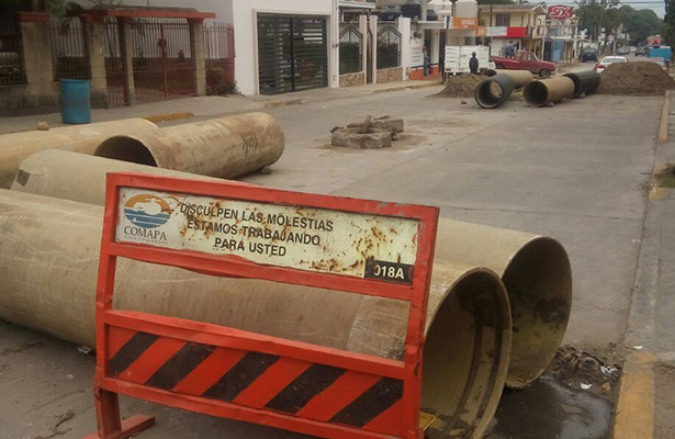 Abandona Comapa obras desde hace 4 meses en la Nuevo Progreso