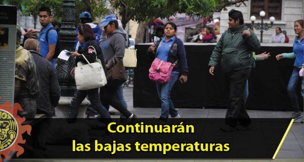 Continuarán las bajas temperaturas desde Baja California hasta Tamaulipas