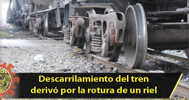 Descarrilamiento del tren en la Tamaulipas derivó por la rotura de un riel