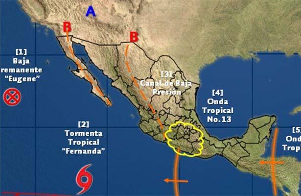 Tormenta tropical Fernanda se fortalece sin afectar costas mexicanas