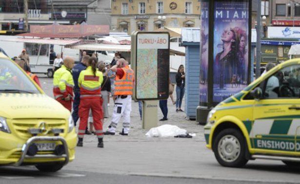 Apuñalamiento en ciudad de Turku, Finlandia, deja hay un muerto y ocho heridos