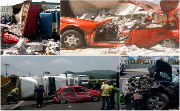 """¡Increíble! Salen vivos tras aparatosas volcaduras de """"monstruosos"""" camiones"""