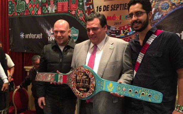 Este es el cinturón huichol para la pelea Canelo – Golovkin