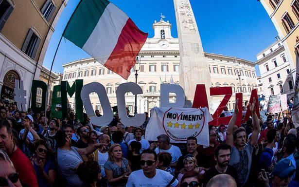 """Marcha en Italia contra ley electoral denominada """"Rosatellum"""""""