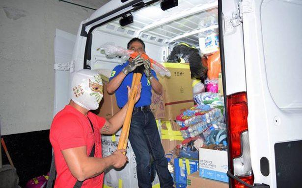 El CMLL recibió varios donativos