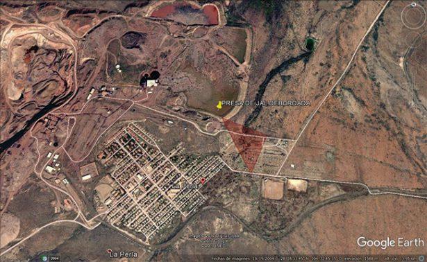 Se desbordan residuos de hierro de mina en Chihuahua
