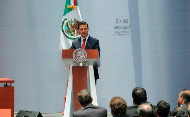 Se cumple en tiempo y forma con el Nuevo Sistema de Justicia Penal: Peña Nieto