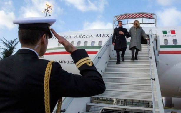 Peña Nieto llega a París, participará en la Cumbre One Planet