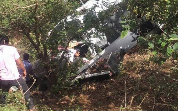 Un muerto y cuatro heridos deja caída de helicóptero de la PRG en Oaxaca