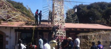 Colapsa estructura en festejos de la Virgen de Guadalupe
