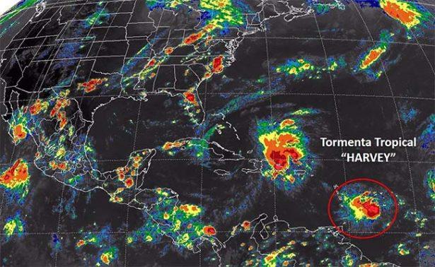 Tormenta tropical Harvey llega al Caribe, afectaría península de Yucatán