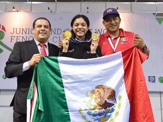 Natalia Botello es campeona del mundo en esgrima