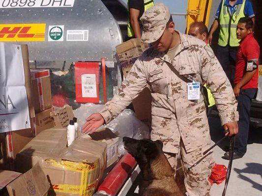 Aseguran cocaína en botellas de Shampoo y cosméticos en Aeropuerto Tijuana