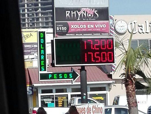 Tipo de cambio en Tijuana 💵