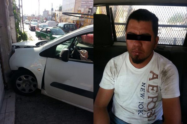 Se roba un vehículo y lo choca