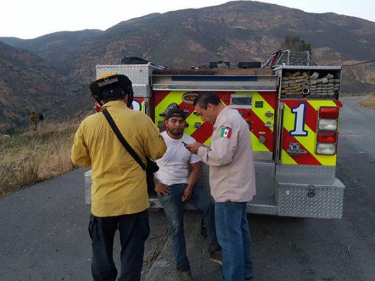 Actualización: Rescatan en un cerro a migrantes heridos