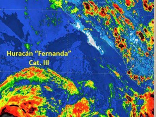 Huracán Fernanda no representa riesgo para BC