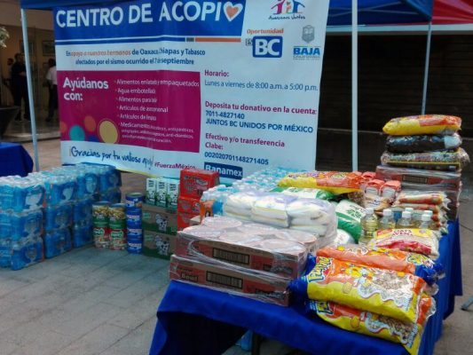 Instala DIF Estatal centros de acopio para damnificados de sismo