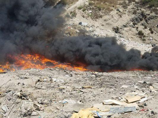 Devasta incendio varias héctareas de vegetación seca