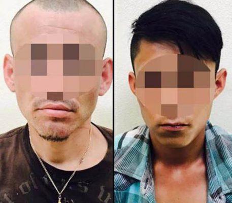 Capturan a dos hombres por robo con violencia a mujer