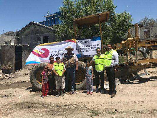 Apoya AMIC BC con trabajos en suelo y calles, y de limpieza