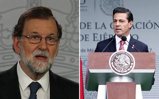 Durante llamada, EPN agradece a Rajoy su apoyo a víctimas por sismo en México
