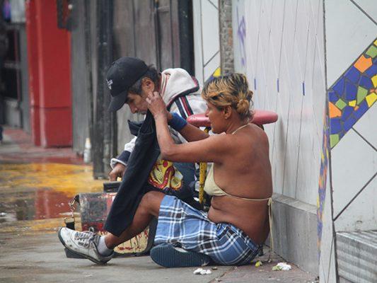 1,800 indigentes invaden las calles