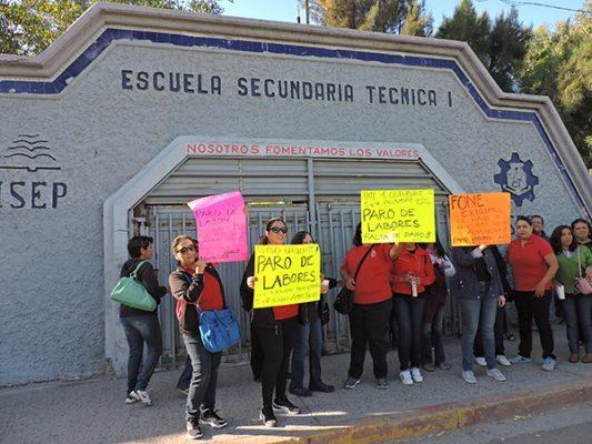 Cierran,  en protesta la ETI porque no les pagan a los empleados