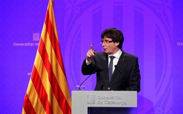 Presidente de Cataluña asegura que declarará la independencia en días