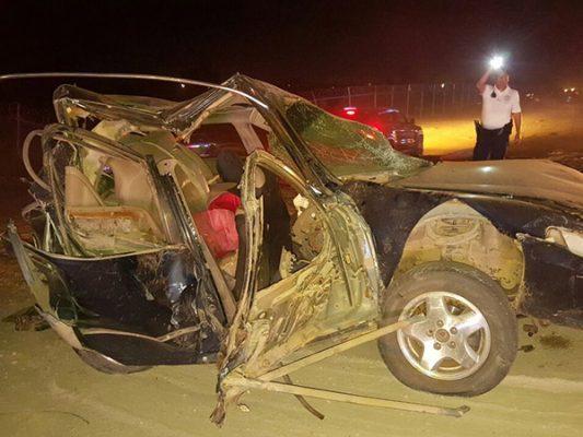 Carambola en carretera de Mexicali; 4 heridos