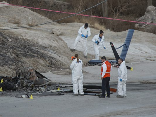 [Video y Galería ] Cayó el helicóptero Pegaso; 2 muertos
