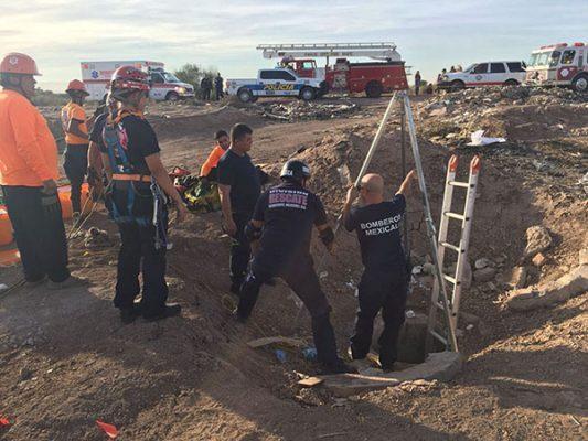Muere trabajador en Mexicali; cayó a alcantarilla