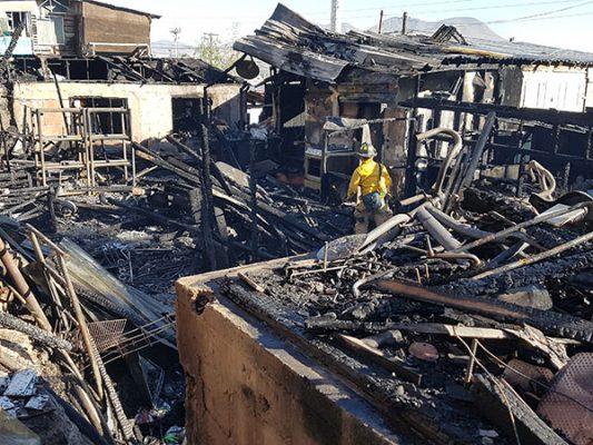 Desamparadas, 50 familias por incendios