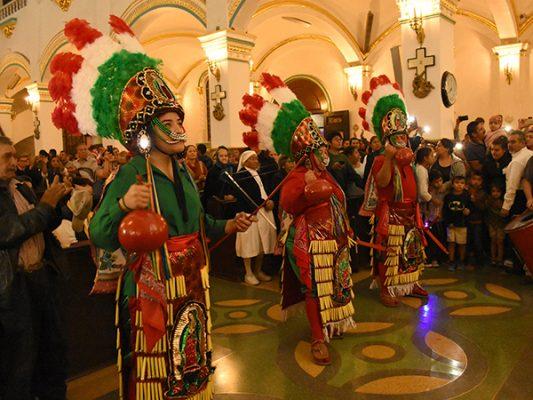 Cientos, en la fiesta de la Virgen de Guadalupe
