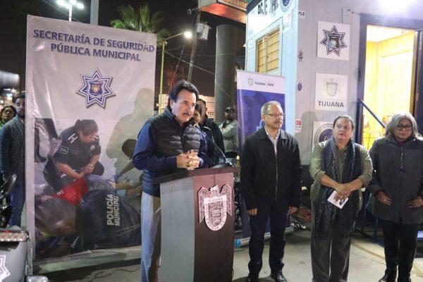 Inauguran caseta de seguridad en Plaza Las Palmas