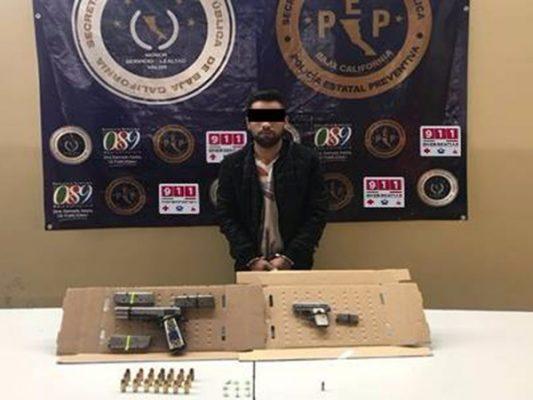 Sujeto armado y con droga es asegurado por la PEP