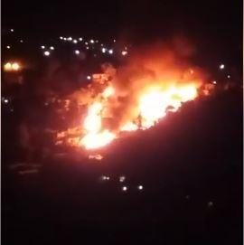 Siguen los incendios, 12 casas quemadas en Aguaje de la Tuna