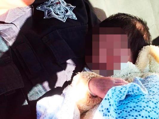 Agentes Municipales resguardaron a  recién nacido abandonado