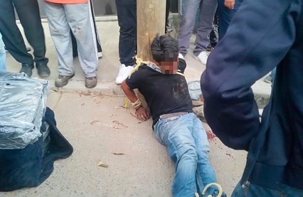 Linchan a ladrón en Oaxaca