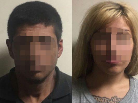 Arrestan a pareja con auto robado