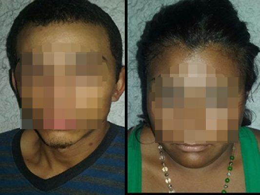 Arrestan a pareja por posesión de arma y droga