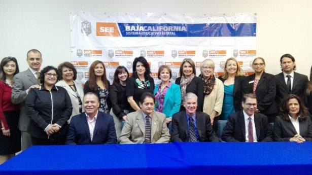 Presentan acuerdos en materia educativa, BC y California