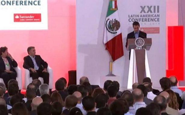 Peña Nieto inaugura la XXII Conferencia Latinoamericana del Banco Santander