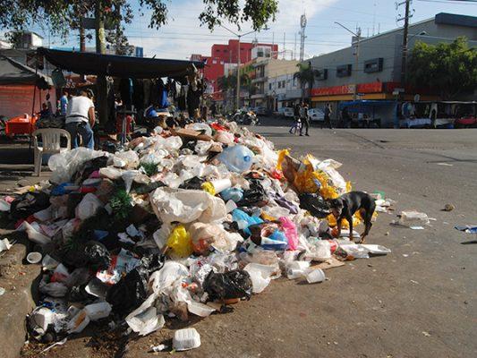 La Zona Centro, repleta de basura