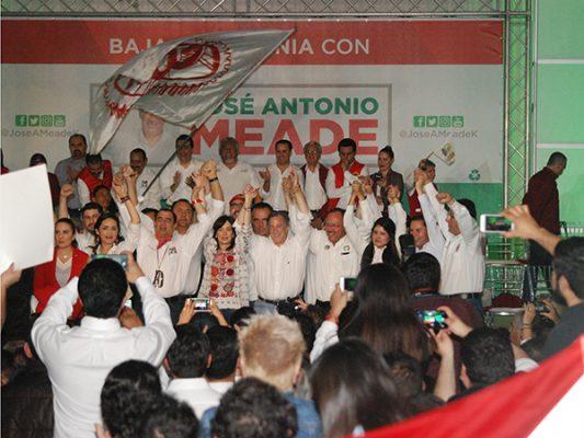 Cobijan más 5 mil priistas de Baja California a José Antonio Meade