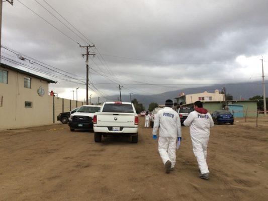 Balacera en Maneadero deja 1 muerto y 2 heridos